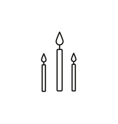 candles icon vector image vector image