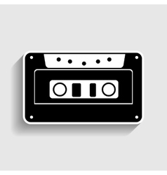 Cassette icon audio tape sign vector image