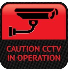 Cctv surveillance symbol vector