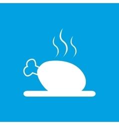 Chicken shin icon white vector image