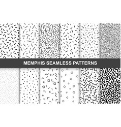 Collection of swathces memphis patterns - seamless vector