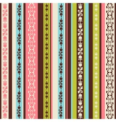 color pattern with ornaments vector image vector image