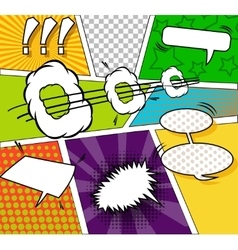 Comic funny background vector image vector image
