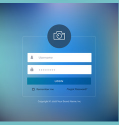 Elegant ui login form design on blurred background vector