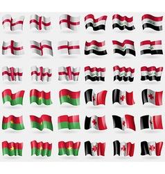 England iraq burkia faso udmurtia set of 36 flags vector