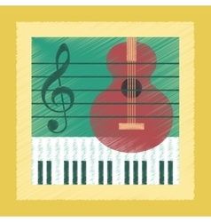 Flat shading style icon music lesson vector