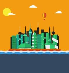 Futuristic city landscape vector