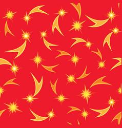 holiday seamless pattern christmas star vector image