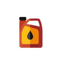 Isolated fuel canister flat icon jerrycan vector