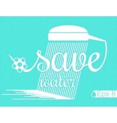 Minimal Design - save Water vector image