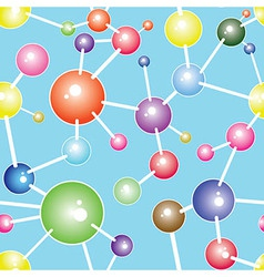 Molecule seamless communication background vector image