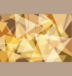 orangeyellow gold triangle abstract background vector image vector image