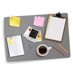 photo and office supplies vector image vector image