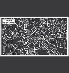 Rome map in retro style hand drawn vector