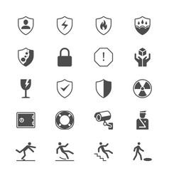 Safety flat icons vector