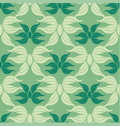 seamless abstract vintage green pattern vector image vector image