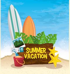 Summer vacation icon vector
