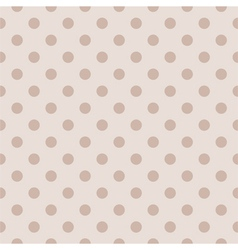 Tile pastel pattern with polka dots for background vector image vector image