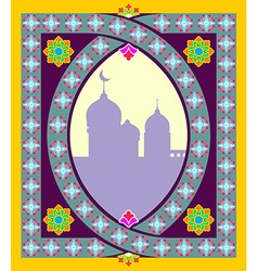 Traditional oriental mosque frame arabic islamic vector