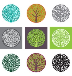 Tree logo template beautiful tree card or vector