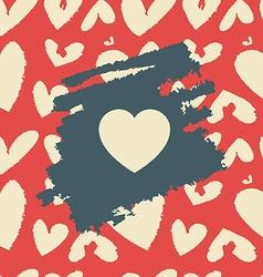 Vintage heart vector image
