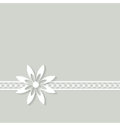 white floral border vector image vector image