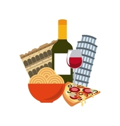 Italian culture holidays icon vector