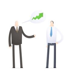 Boss praises an employee for good performance vector image