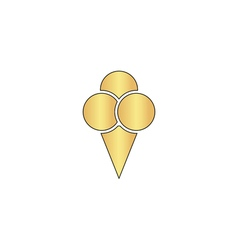 Ice cream computer symbol vector