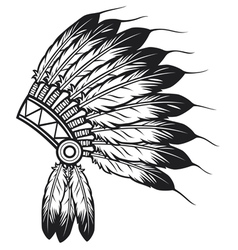 Native american indian chief headdress vector
