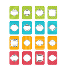 Collection of stickers and labels in flat design vector
