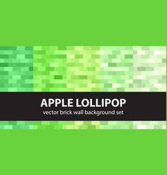 rectangle pattern set apple lollipop seamless vector image