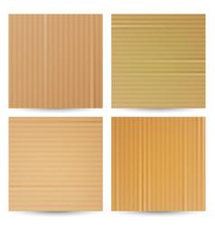 Cardboard textures set realistic paper vector