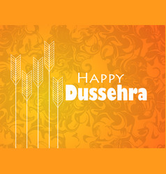 Happy dussehra indian festival celebration vector