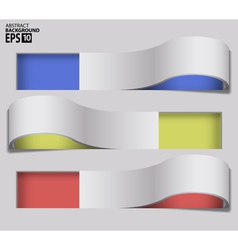 3D Twisted Frames Abstract Background vector image