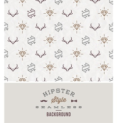 Hipster style seamless background vector