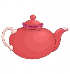 teapot red vector image