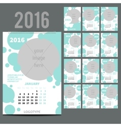 Geometrical calendar of 2016 vector