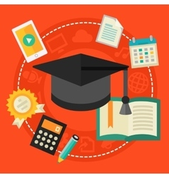 High school education concept vector