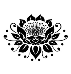 Filigree lotus flower vector