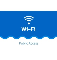 Wi-fi icon on a white-blue background with vector