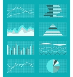 Set of graphs and charts data statistic vector