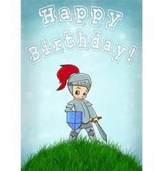 Knight card happy birthday vector