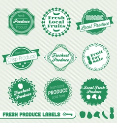Fresh Produce Labels vector image