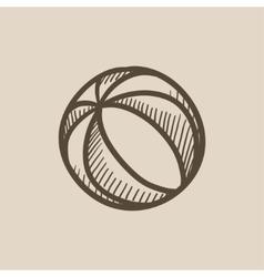 Beach ball sketch icon vector