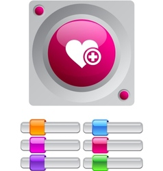 Add to vavorite color round button vector image vector image