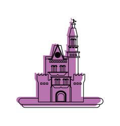 big castle icon image vector image