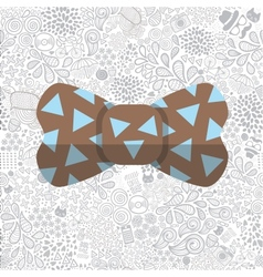 bow on cartoon doodle hipster seamless pattern vector image vector image