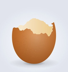 Broken egg shell vector