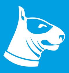 Bull terrier dog icon white vector